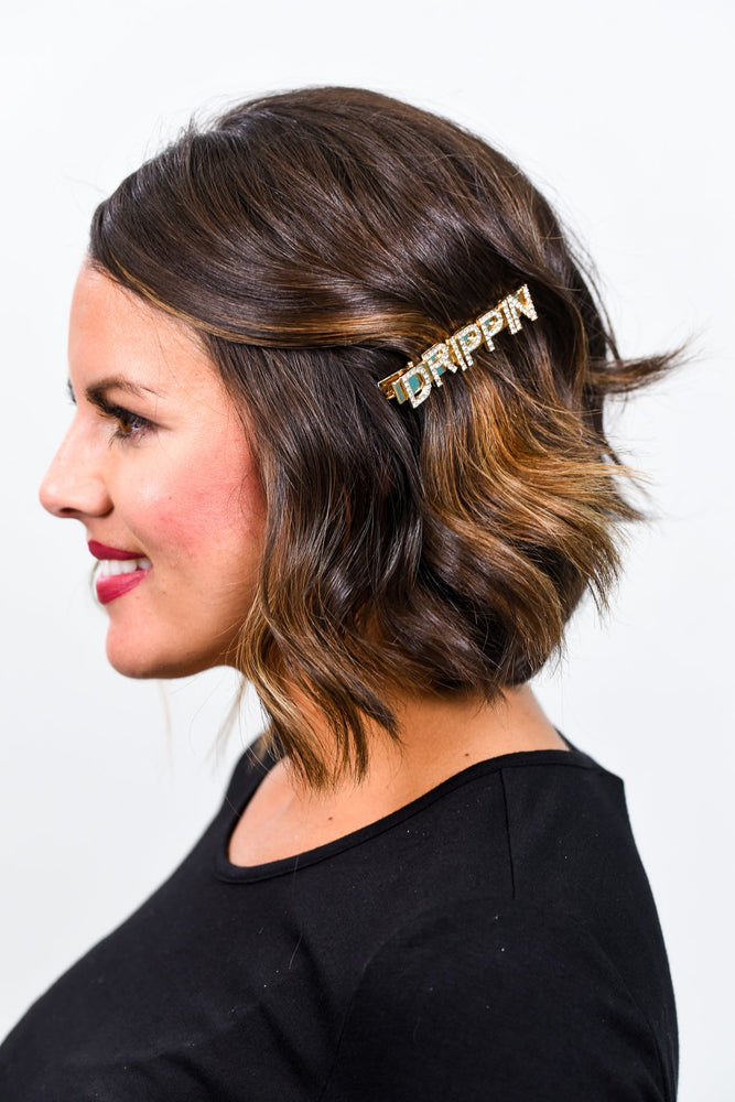 'Drippin' Gold Bling Hair Clip - CLP174GO