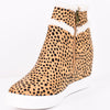 Walking Fur Love Cheetah Wedge Booties - SHO1653CH
