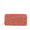 Red/Multi Color Glitter Wallet - WAL1026RD