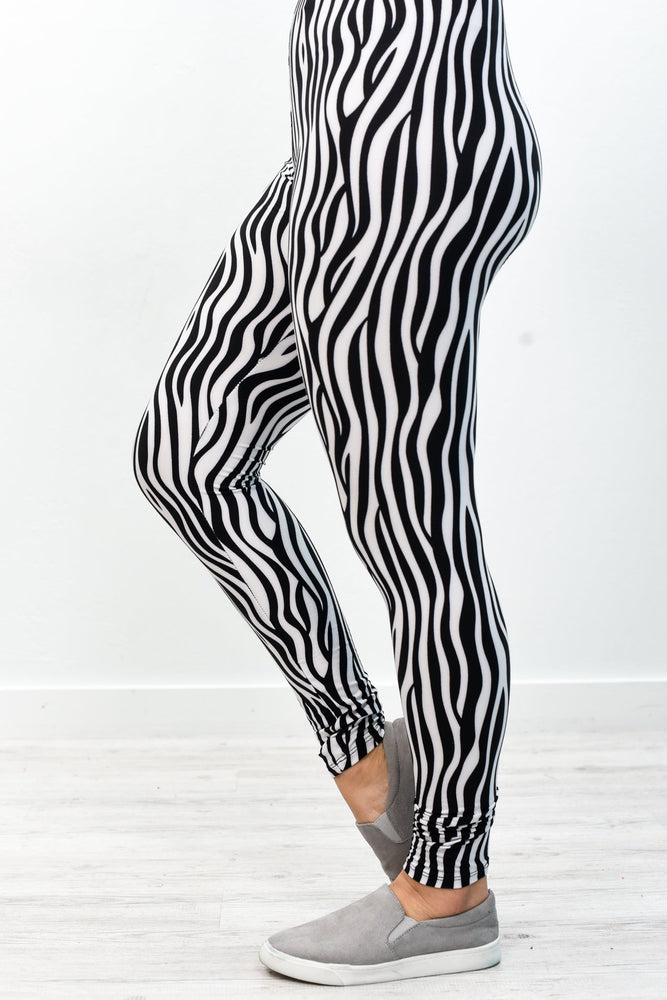 Zebra Printed Leggings (Sizes 4-12) - LEG2606ZE