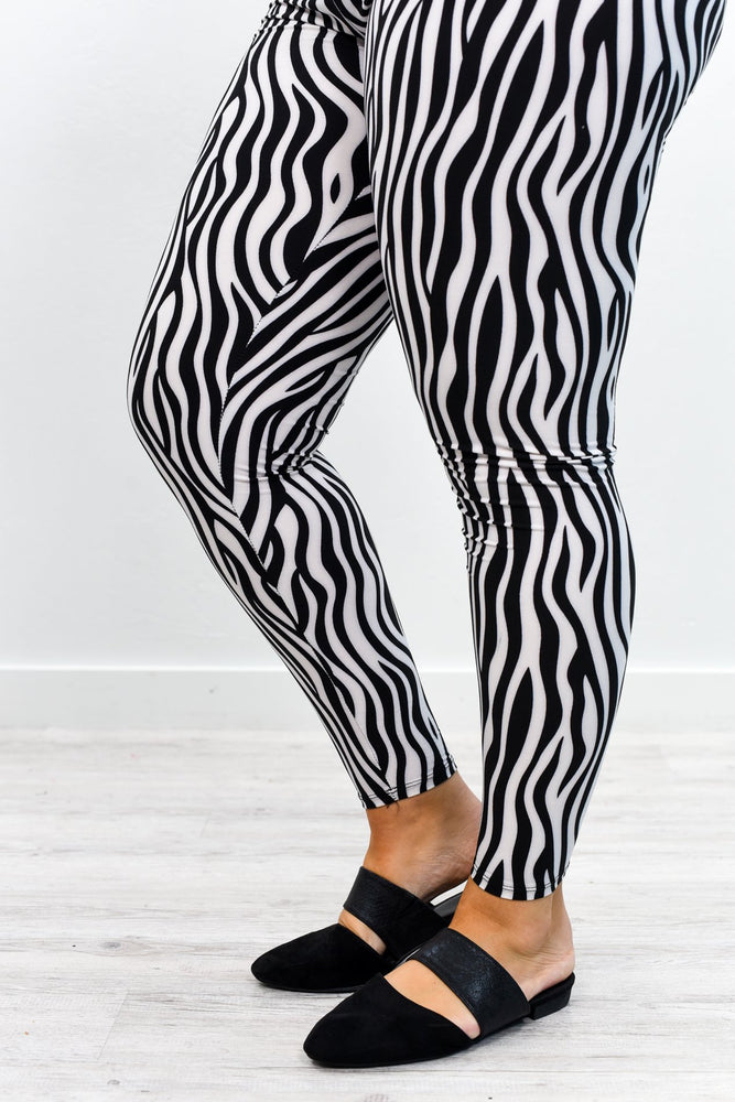 Zebra Printed Leggings (Sizes 20-26) - LEG2605ZE