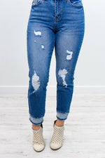 Cue The Casual Medium Denim Jeans - K382DN