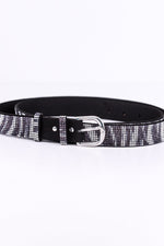 Black/Zebra Bling Belt - BLT1041BK