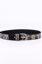 Black/Tiger Bling Belt - BLT1040BK
