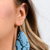 Turquoise Snakeskin Teardrop Earrings - EAR2737TU