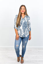 Waiting For This Moment Gray Palm Leaves/Leopard High-Low Top - B7566GR