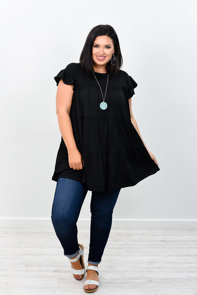 Let's Keep It Classy Black Solid Dress - D3269BK