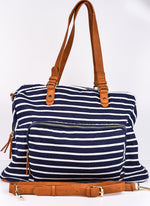 The Perfect Addition Navy/White Striped Bag - BAG1337NV