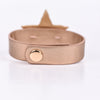 Rose Gold/Gold Hammered Star/Silver Crushed Crystal/Bling Snap Closure Bracelet - BRC2457RG