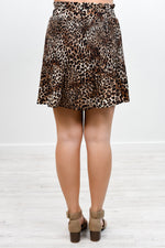 Let's Get Catty Brown Leopard Skirt - E1040BR