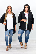 Better Things Ahead Black Sheer Kimono - O2421BK
