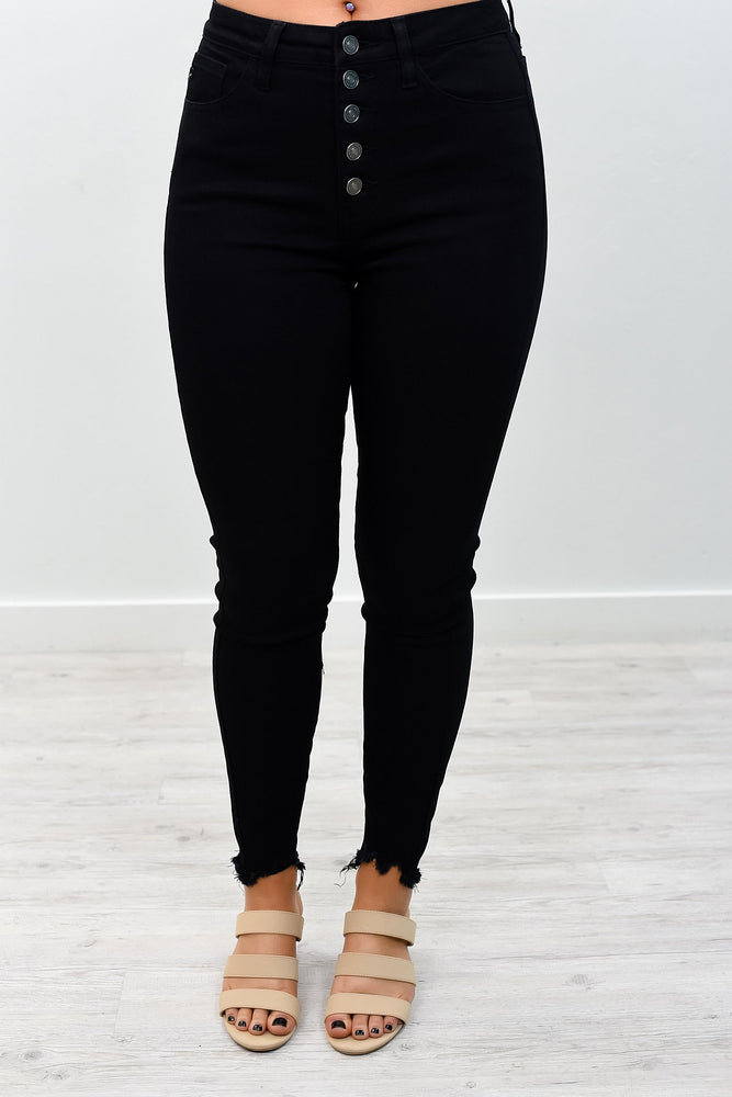 Casually Carefree Black Denim Jeans - K397BK