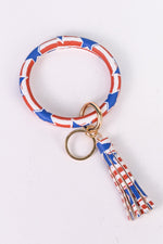American Flag Keyring With Tassel - KRG1006AM