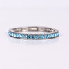 Silver/Light Blue Bling Stretch Bracelet - BRC2518SI