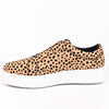 Walk All Over Tan/Black Leopard Suede Slip On Shoes - SHO1746TN