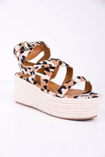 Higher Love Toffee Multi Leopard Espadrille Platform Sandals - SHO1778TO