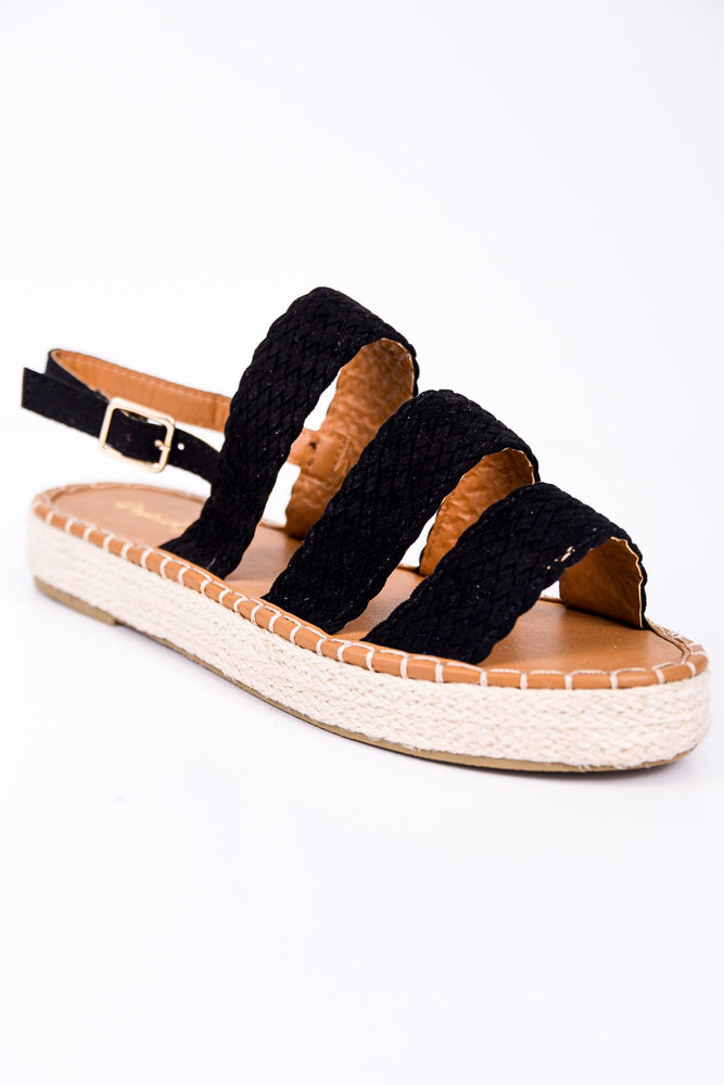 Know The Way To Your Heart Black Espadrille Sandals - SHO1783BK