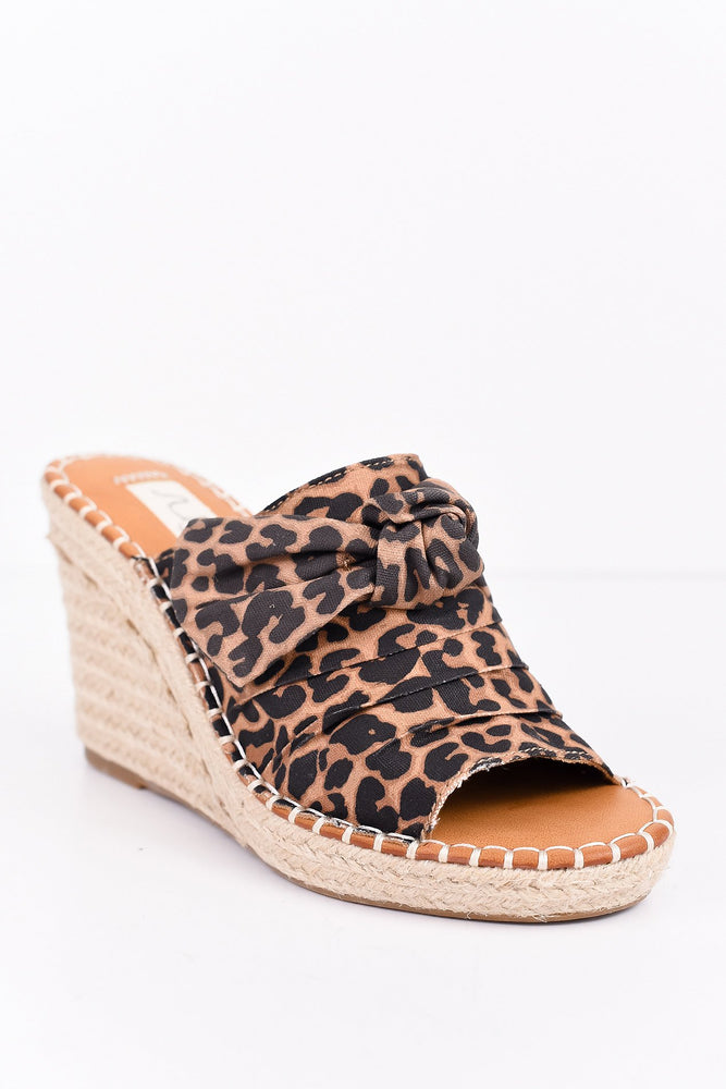 Watching My Step Leopard Espadrille Wedges - SHO1751LE