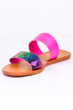 Snake My Day Rainbow Snakeskin Sandals - SHO1785RW
