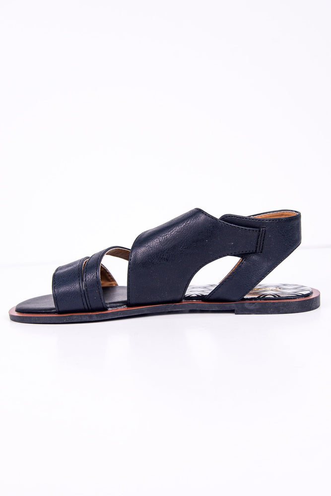 Walks With You Black Sandals - SHO1774BK