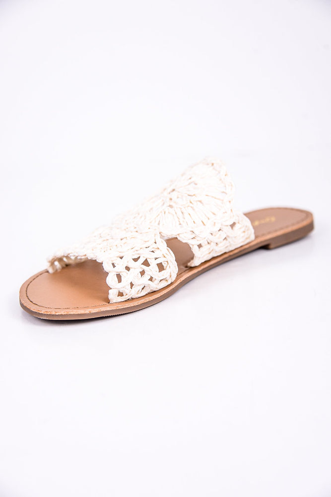 So Clever Off White Sandals - SHO1760OW