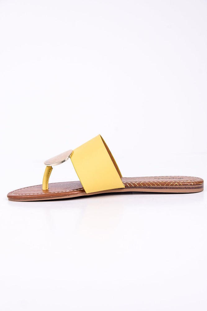 Stroll With It Yellow/Gold Sandals - SHO1771YE