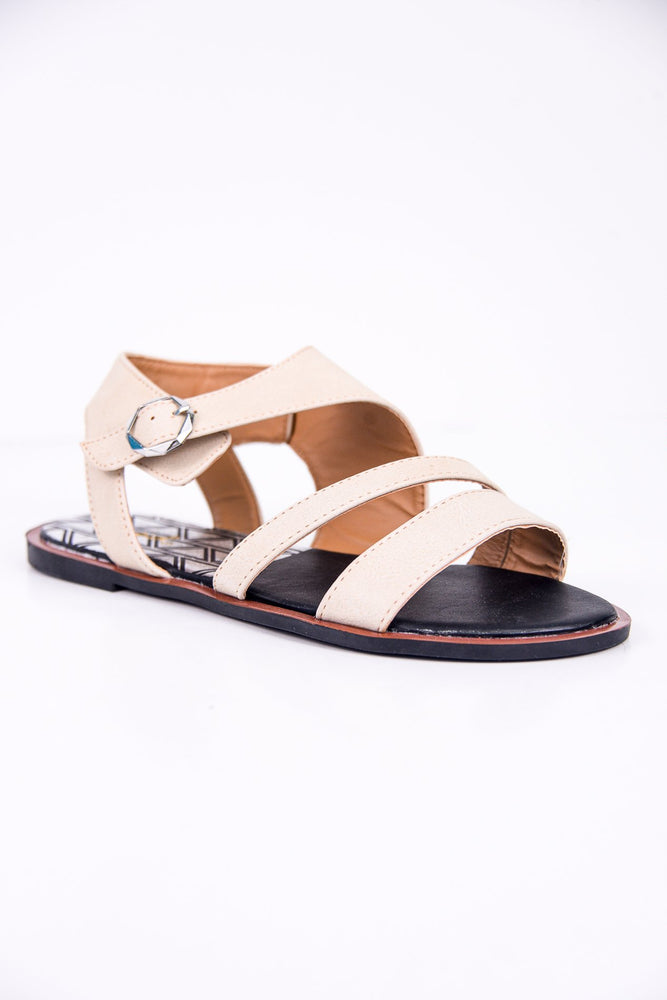 Walks With You Beige Sandals - SHO1773BG