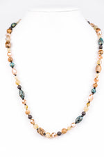 Natural/Multi Color Beaded Necklace - NEK3185NA