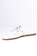 Stepping Into Spring White Sandals - SHO1769WH