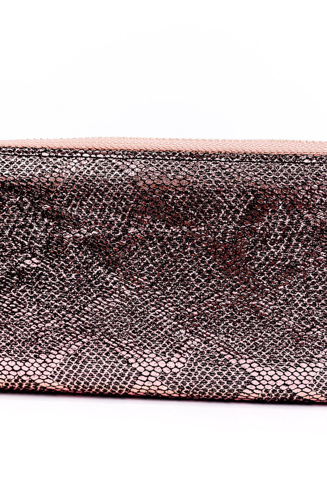 Rose Metallic Snakeskin Zip Wallet - WAL1039RS