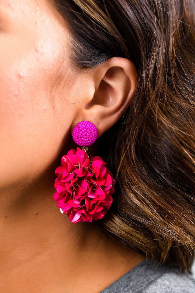 Fuchsia Flower Earrings - EAR2845FU