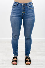 Ask Me Again Medium Denim Jeans - K415DN