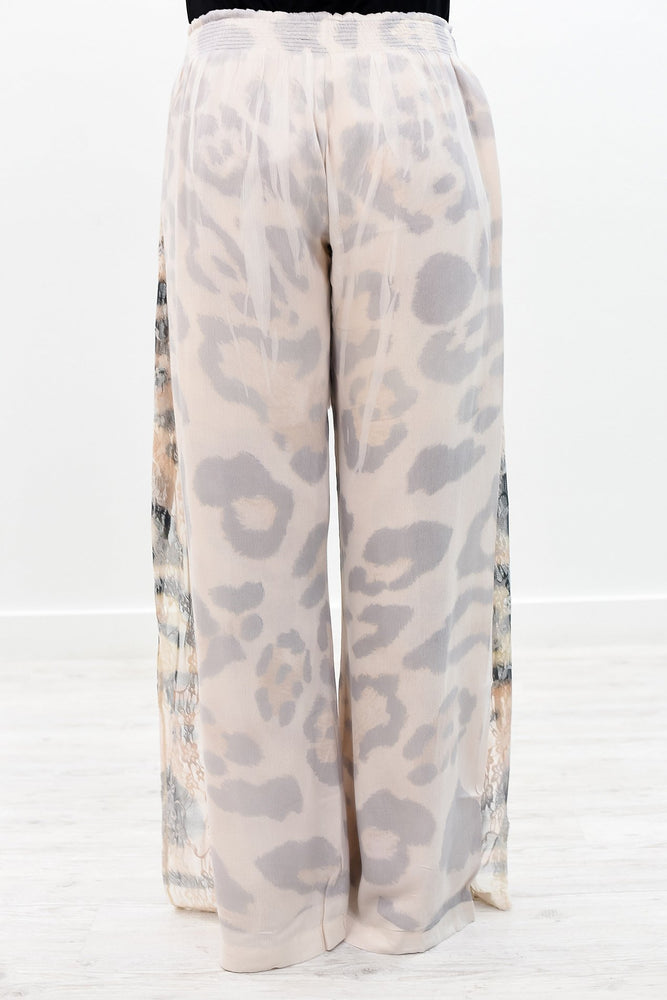 You're Gonna Hear Me Roar Beige/Leopard Pants - PNT1130BG