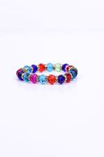 Multi Color/Bling Beaded Stretch Bracelet - BRC2597MU