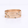 Gold/Bling Stackable Bangle Bracelet - BRC2600GO