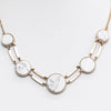 Gold/White Marble Stone Necklace - NEK3320GO