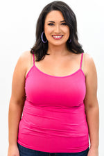 Fuchsia Basic Seamless Cami (Sizes 12-18) - CAM909FU
