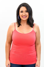 Coral Basic Seamless Cami (Sizes 12-18) - CAM909CO