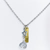 Silver/Gold/Bling Charm Necklace - NEK3353SI