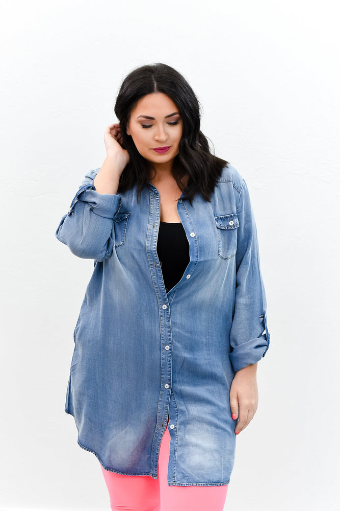 Something To Admire Denim Tunic - B8503DN