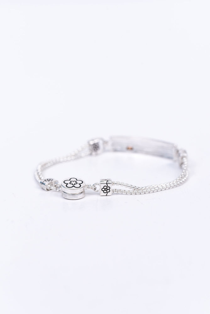 'You Are Always In My Heart' Silver Magnetic Closure Bracelet - BRC2658SI