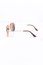 Rose Gold Frame/Mirrored Lens Aviator Sunglasses - SGL240RG