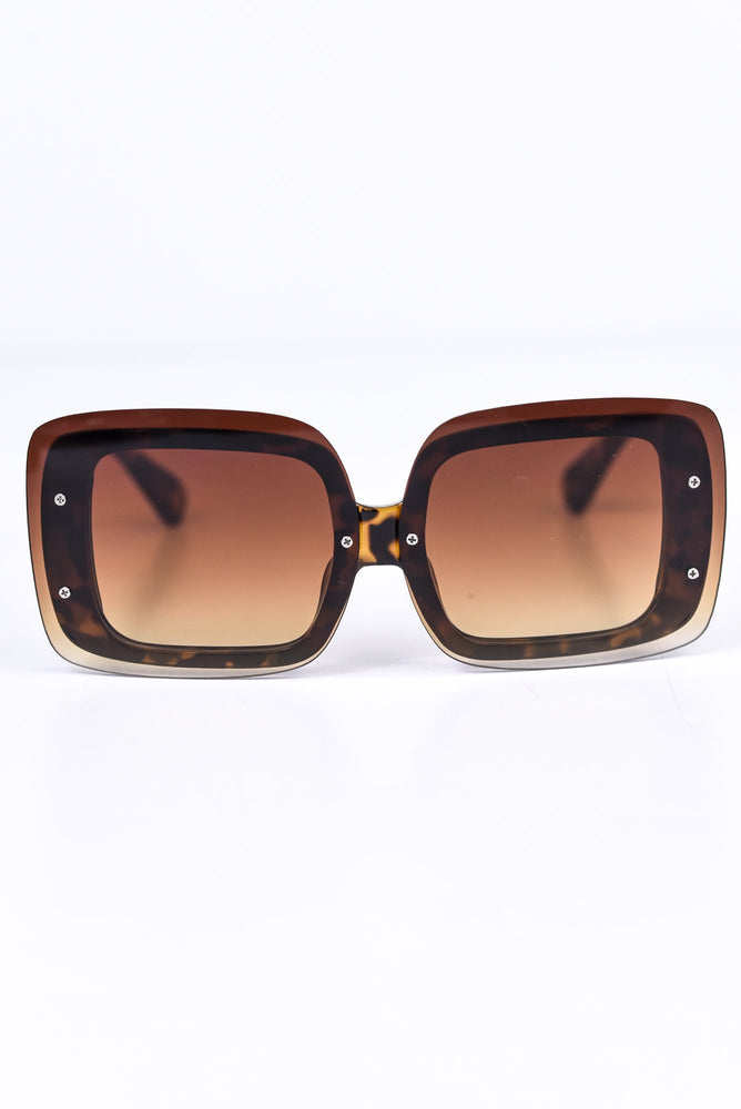Brown Tortoise Shell/Brown Ombre Lens Sunglasses - SGL232BR - FREE hard case