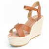 Stepping It Up Tan Espadrille Wedges - SHO1807TN