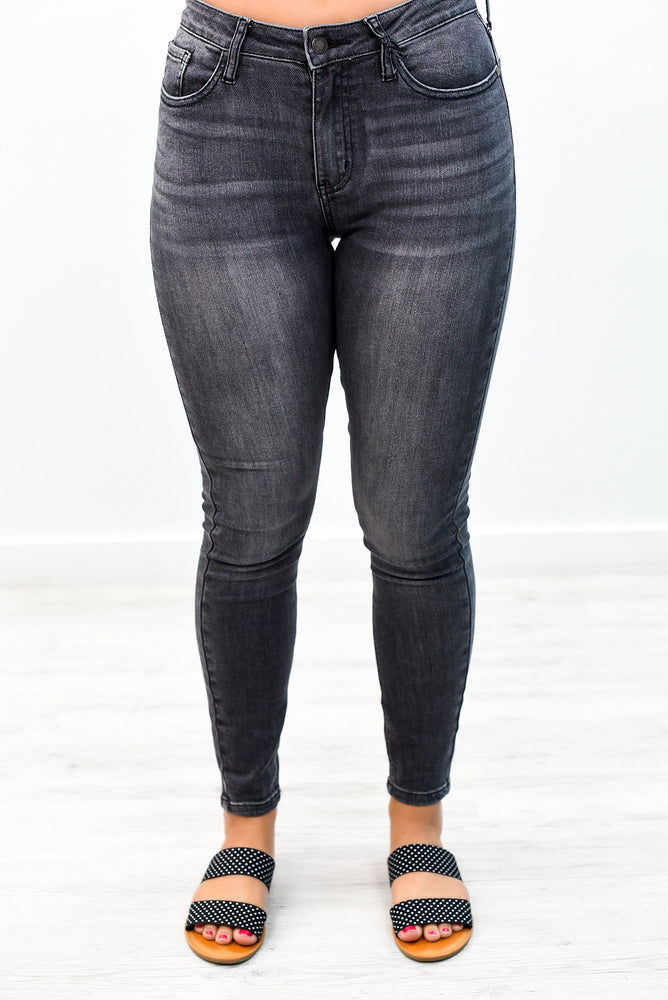 What's The Chance Gray Denim Jeans - K462DN