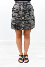 Surviving The Heat Charcoal Gray Camouflage Skirt - E1054CG
