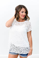 Unlikely Romance Ivory Lace Top - B8731IV