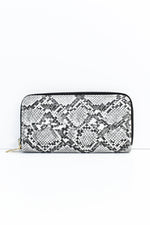 Black/White Snakeskin Printed Wallet - WAL1040BW