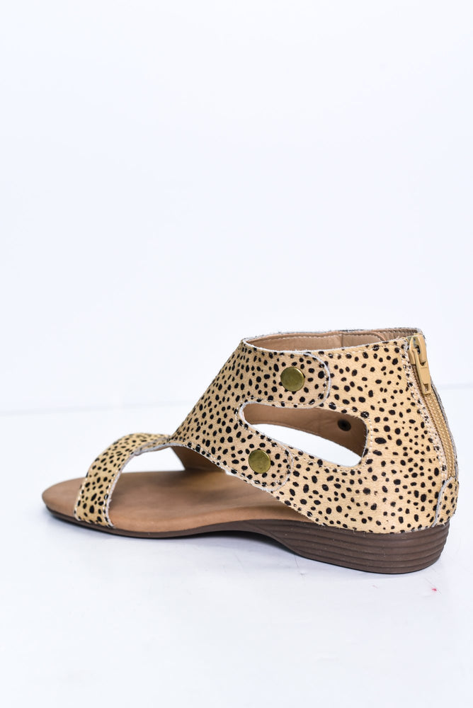 Spot Me If You Can Brown Speckled Sandals - SHO1823BR