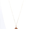 'Faith' Brown Leopard/Gold Teardrop Pendant Necklace - NEK3431BR